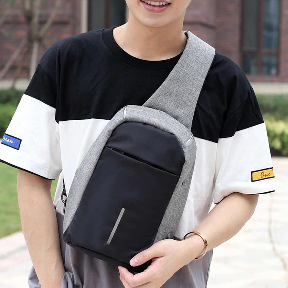2018 Casual Anti Theft Chest Bag Waist Nylon Waterproof Men Tas Selempang Thief Water Proof Smart Crossbody About Color 1all Product Images Were Taken In Kind 2the Of Might Be Slightly Different From Real Due To The Shooting Light