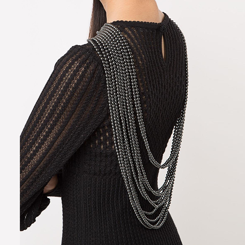 Luxury Party Shoulder Chain Shoulder Jewelry cb5feb1b7314637725a2e7: Black