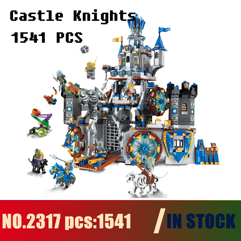Models building 2317 1541pcs War Of Glory Castle Knights Battle Bunker Enlighten Building Blocks Compatible with lego & hobbies knights of sidonia volume 6