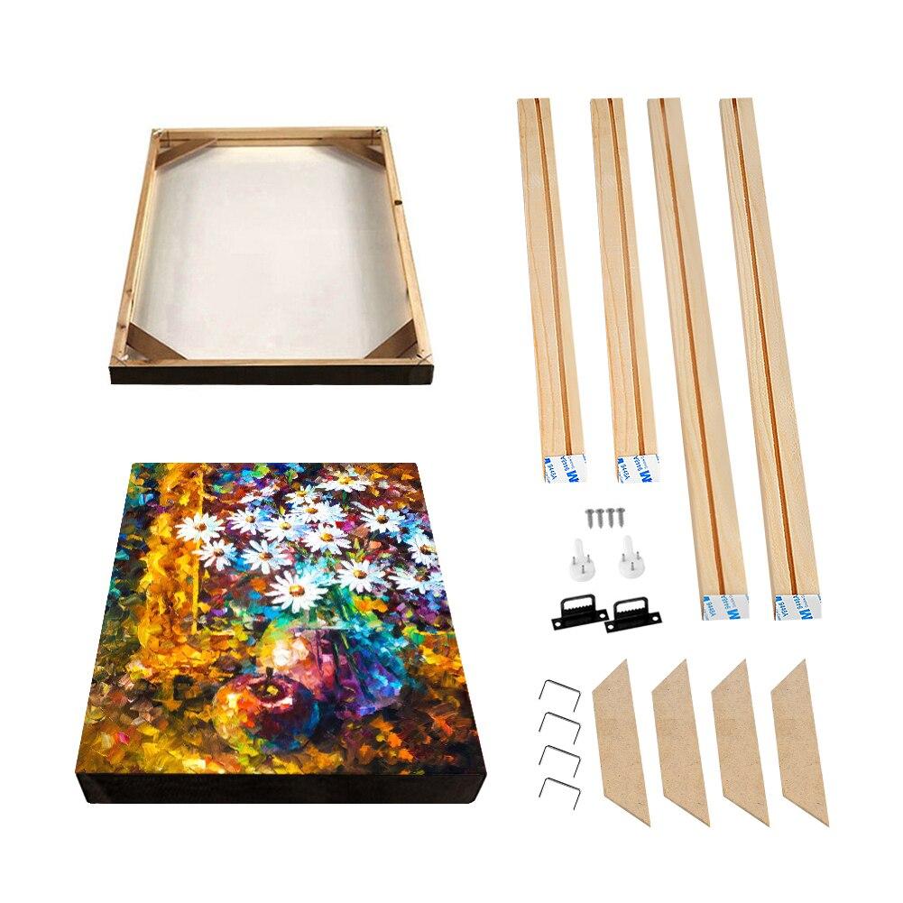 Cadre Photo Murale bois peinture à la main Cadre pour toile peinture à l'huile Poster Photo Stretch sur Cadre Longlife bois lattes Cadre ensembles