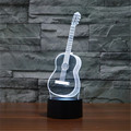 Six Strings Guitar LED Desktop Table luminary Lamp USB Valentines Day Birthday Gift 3D Touch Button Night Light free shipping