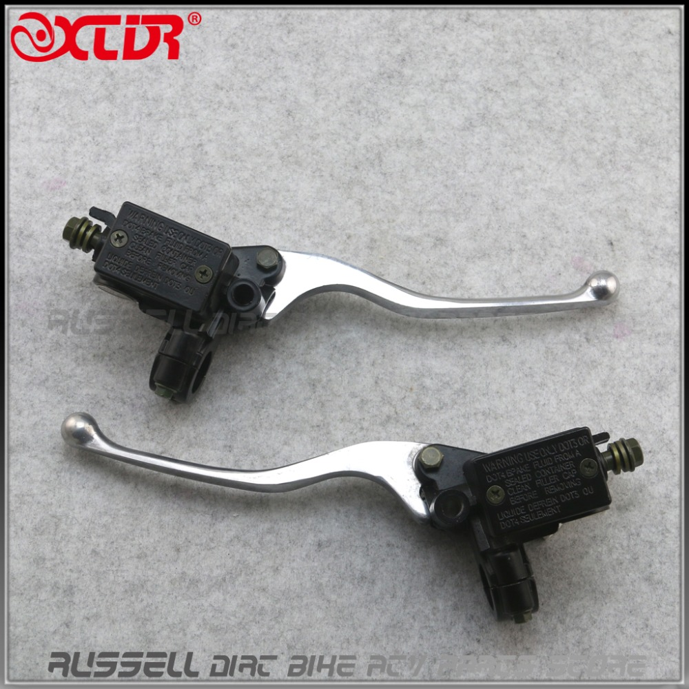 Brake-Clutch-Lever Right-Handle Master Cylinder Scooter Left Motorcycle-Pair Hydraulic title=