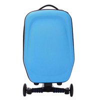 New 21inch Hard Shell Wheeled Wheels Scooter Luggage Suitcase with Skateboard for Travel Business LBY2017