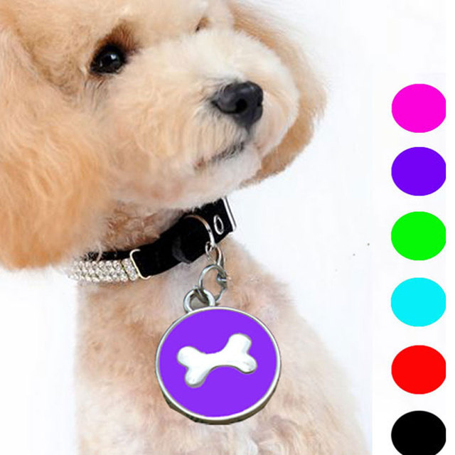 Hot Sell 10 Pcs/Lot Pet Dog Cat Name Tag Factory Direct Supply Bone Style Pets Identity Card Accessories for Pets Products
