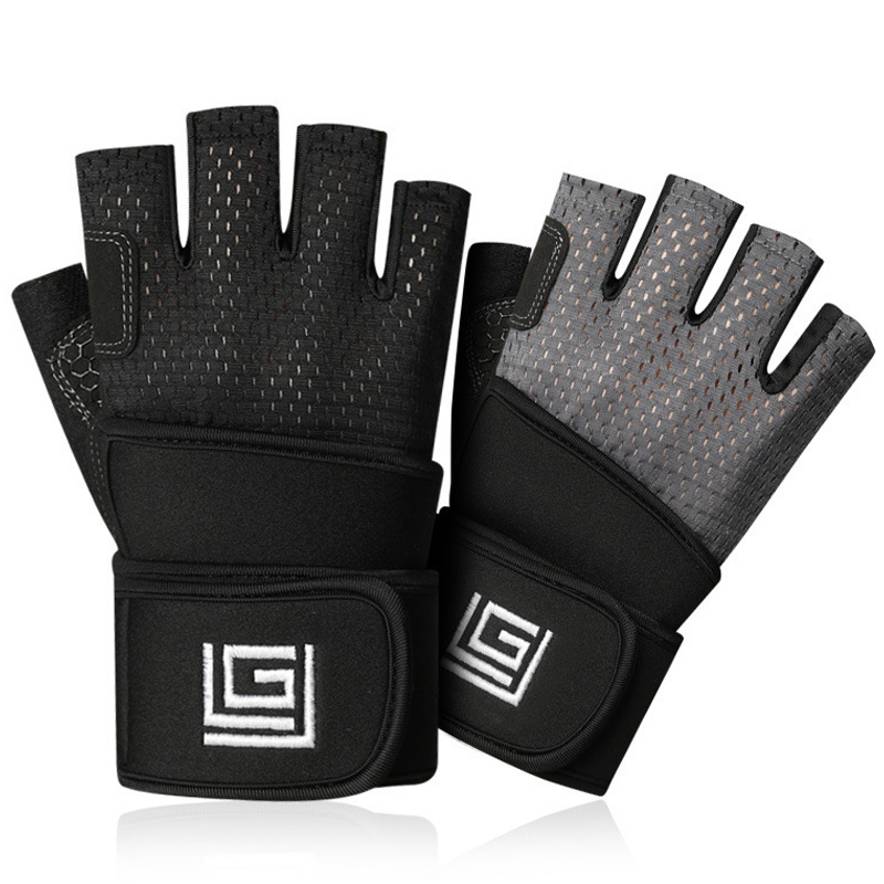 Gym Gloves Heavyweight Sports Exercise Weight Lifting Gloves Body Building Training Sport Women Men Fitness Gloves