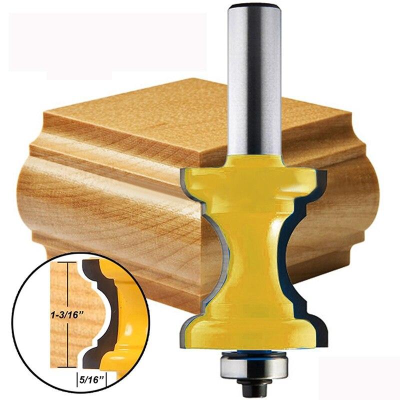 Nouveau 1/2 tige Bullnose perle colonne visage moulure routeur pour outils de travail du boisNouveau 1/2 tige Bullnose perle colonne visage moulure routeur pour outils de travail du bois