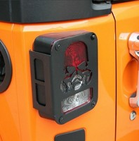 Tail Light Guards Cover Pairw And Hardware Fit For 2007 2013 Jeep Wrangler Jk Metal Billet