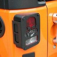 Auto Rücklicht Cover Rear Lampe Rücklicht Protector Fit Für Jeep Wrangler Jk Metall Billet 2007 Zu 2016 2 stücke pro set Auto teile