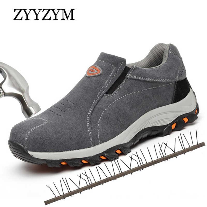 ZYYZYM Erkek Güvenlik Botları Çalışma Koruyucu Ayakkabı Açık Ayakkabı Adam Çalışma Alanı Kamuflaj Delinme Geçirmez yıkılmaz ayakkabı