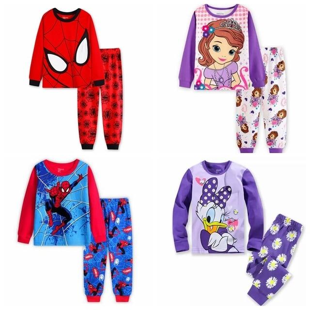100 Cotton Pajamas Long Sleeve Autumn Pajamas Baby Boy Pajamas
