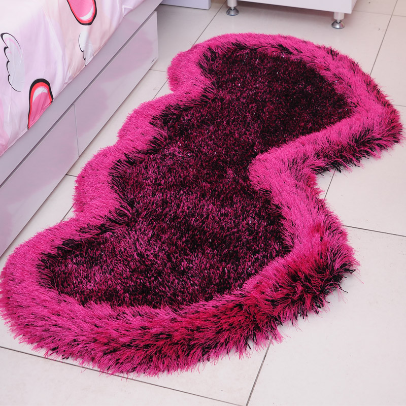 core du sud soie tapis couleur chambre salon table ikea en forme de coeur rectangulaire moderne minimaliste lit couvertures - Tapis Color Ikea