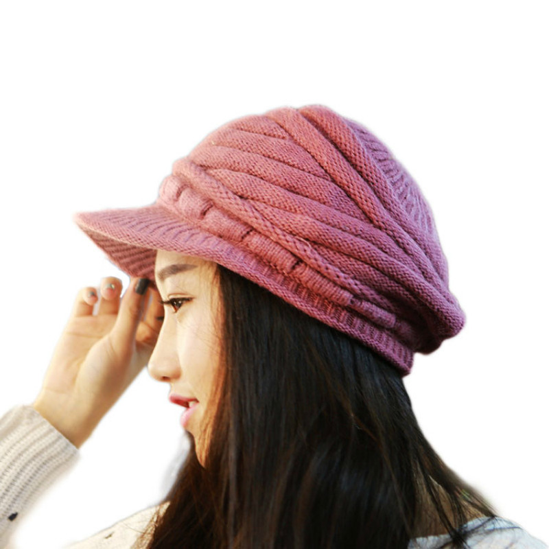 цены  Adofeeno New Winter Hats for Women Fashion Wool Knitted Girls Caps Beanies Lady Accessories Autumn Crochet Warm Beret Beanies
