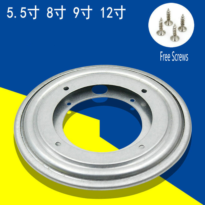 HQ 5.5/8/9/12 INCH Sliver Color Heavy Duty Round Shape Galvanized Lazy Susan Turntable Heavy Duty Bearing Rotating Swivel Plate