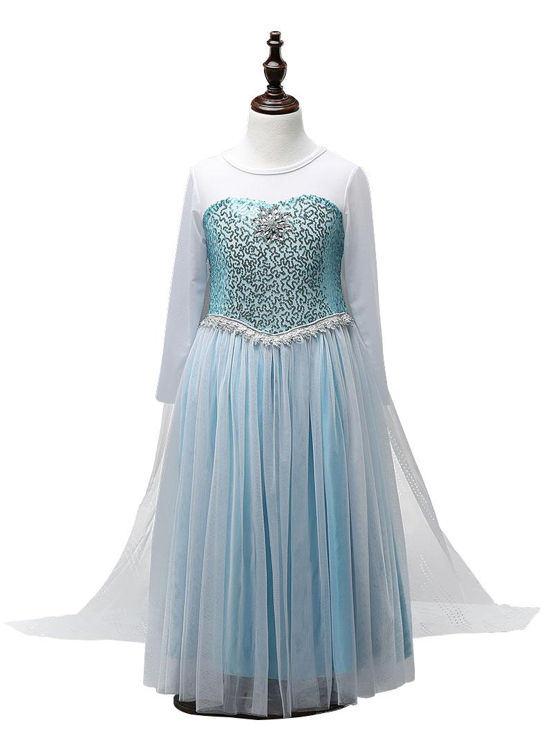 HTB10jhqnDnI8KJjSszbq6z4KFXar Queen Elsa Dresses Elsa Elza Costumes Princess Anna Dress for Girls Party Vestidos Fantasia Kids Girls Clothing Elsa Set