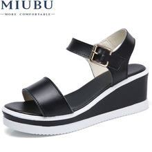 MIUBU 2019 Summer Women Sandals,Shoes Woman Vintage Ladies Flat Gladiator Sandals Shoes Platforms Zapatos Mujer