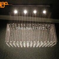 Free Shipping Hot Sales Flush Mount Square Dinning Room Light Modern Crystal Chandelier 110 220v Crystal
