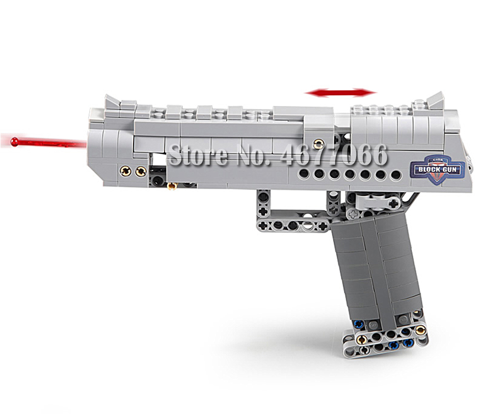 Legoed gun model building blocks p90 toy gun toy brick ak47 toy gun weapon legoed technic bricks lepin gun toys for boy 57
