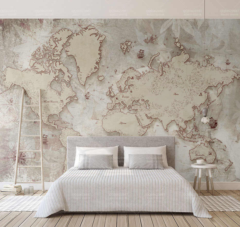 Detail Feedback Questions about Large World Map Wallpaper ...