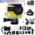 H3R H3 câmera de Ação Câmera De Vídeo de Esportes de Ultra HD 4 K 170D Wide Angle Dual Screen + Cabeça Strap + Chest Strap + set carregador