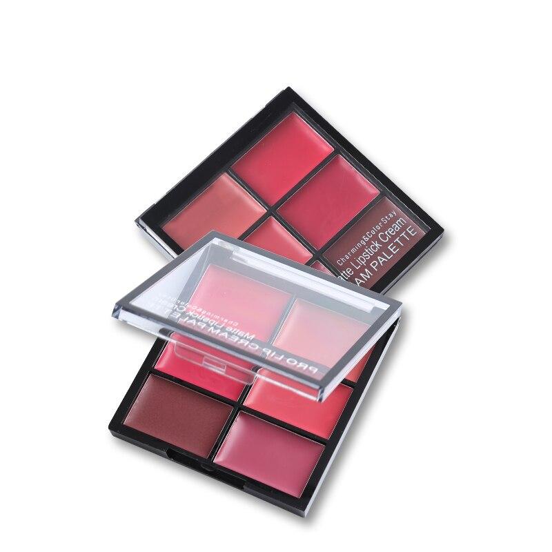 Women Beauty Makeup 6 Colors Matte Lipstick Palette Waterproof Nude Lip Stick Cream Moisturizer Sexy Batom Long-lasting Cosmetic 1