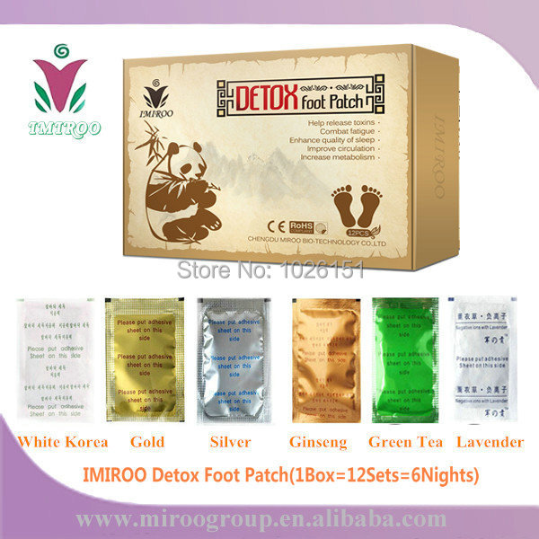 TNT FedEx FreeShip Panda IMIROO Healthcare Bamboo Detox Foot Patch with Adhesive Plaster to dispel toxin(1Box=12Sets=6Nights,CE) kongdy brand 10 bags 20 pieces adhesive sheet bamboo vinegar foot patch removing toxins foot plaster foot cleansing pads