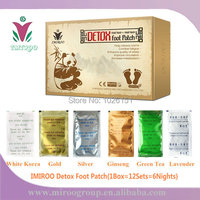 TNT FedEx FreeShip Panda IMIROO Healthcare Bamboo Detox Foot Patch with Adhesive Plaster to dispel toxin(1Box=12Sets=6Nights,CE)