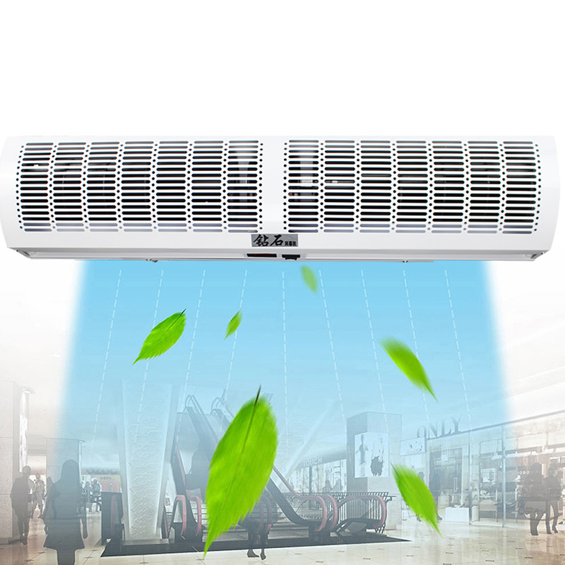 0.6-2.0m Commercial Air Doors Remote Control Adjustable Stalls Air Curtain Machine Nano Spray Paint Mute Energy Saving Low Noise