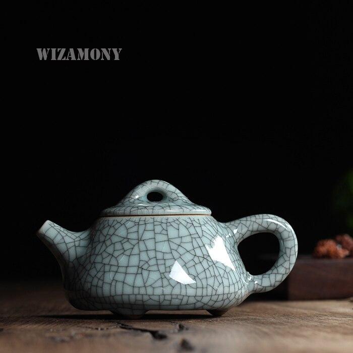 Nouvelle offre spéciale glaçure craquelée Ge four Longquan Celadon Zisha céramique Arts fil d'or théière porcelaine Yixing argile Antique théière