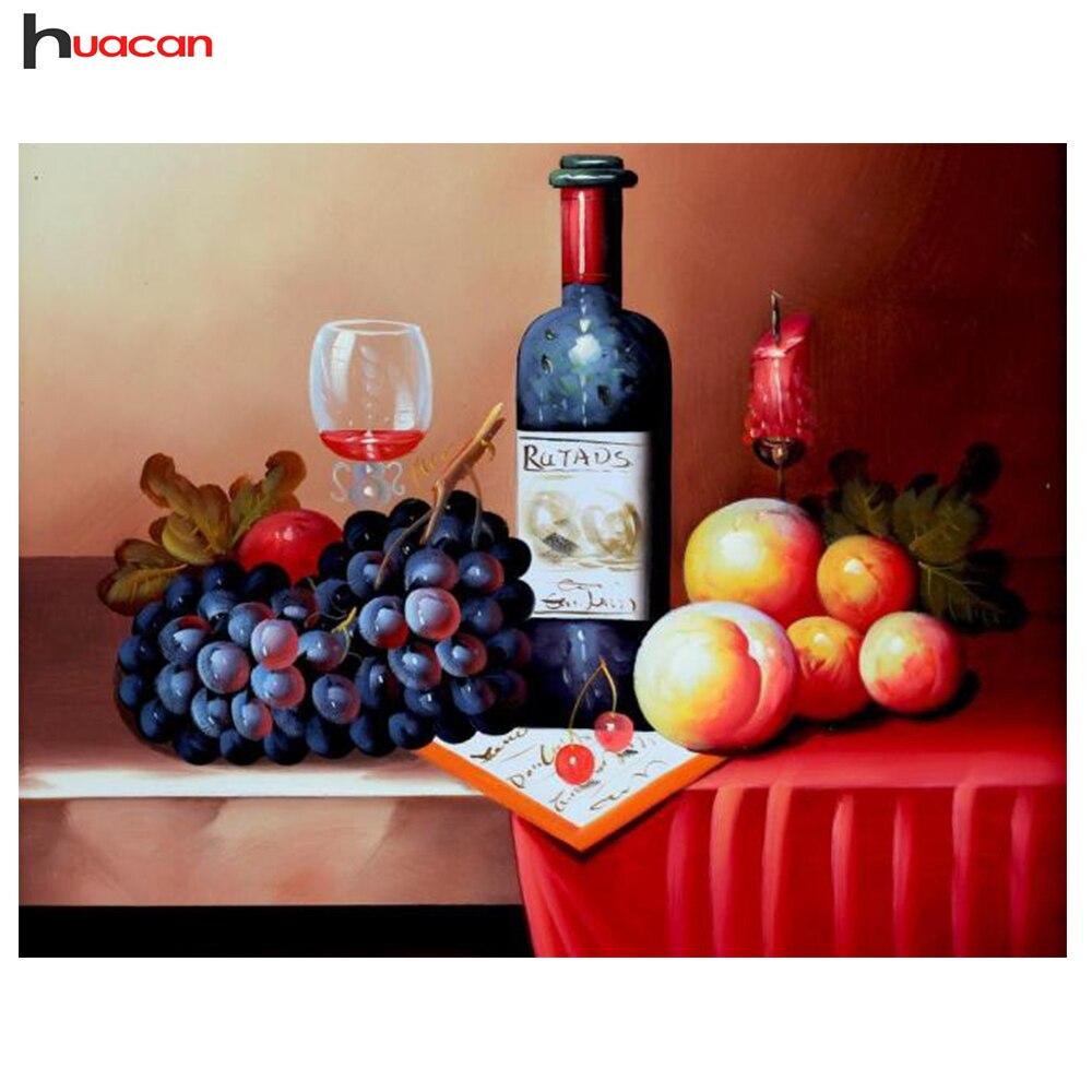 вышивка крестом схема бутылка красного вина