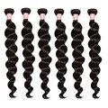 Brazilian Virgin Hair Loose Wave 7A Brazilian Curly Wave Human Hair 6 Bundles Honey Queen Hair Products Brazilian Hair Weave