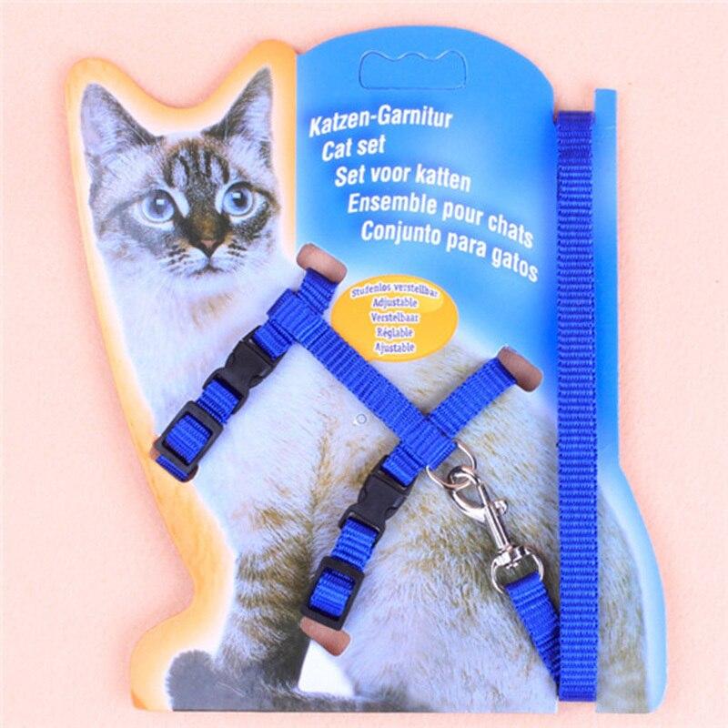 BP1Pc Регулируемая нейлоновая веревка для домашних животных, щенков, кошек, поводок для ходьбы, нагрудный ремень, поводок для домашних животны...