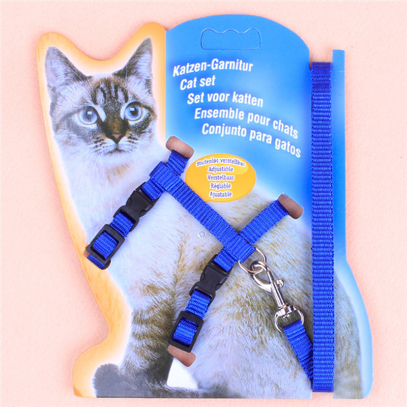 BP1Pc Réglable Corde En Nylon Chien Chiot Chat Plomb Laisse Harnais de Marche Poitrine Sangle Pet Plomb Laisse Pet Fournitures 8zcx-cx386