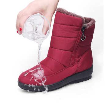 TIMETANG 2019 The new non-slip waterproof winter boots plus cotton velvet women shoes warm light big size 41 42 snow bootsE1872