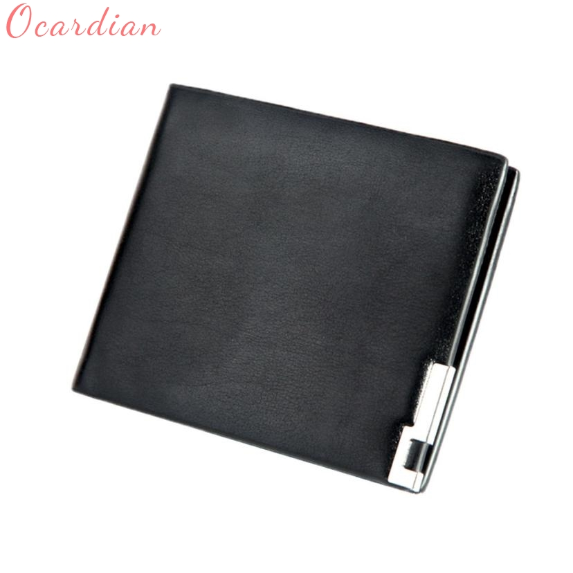 Hot Men Stylish Bifold Business Leather Wallet Card Holder Coin Wallet Purse 17Mar16 red tattoo trends bishop style rotary tattoo machine gun rca plug tattoo grip liner shader ghost head