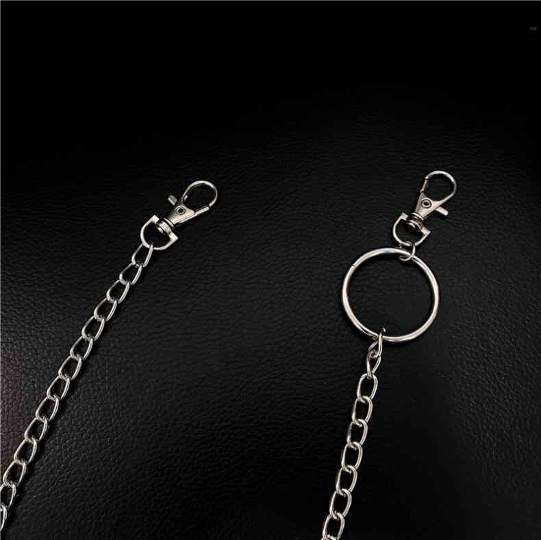 New keychains 66cm Punk Hip-hop Trendy woman boy Belt Waist Chain Male Pants Chain Men Jeans Punk Silver Metal Trousers Keychain