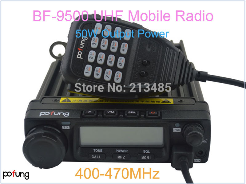 Pofung Baofeng BF-9500 Mobile Radio/Vehicle Radio UHF:400-470MHz 200CH 50W Car Radio
