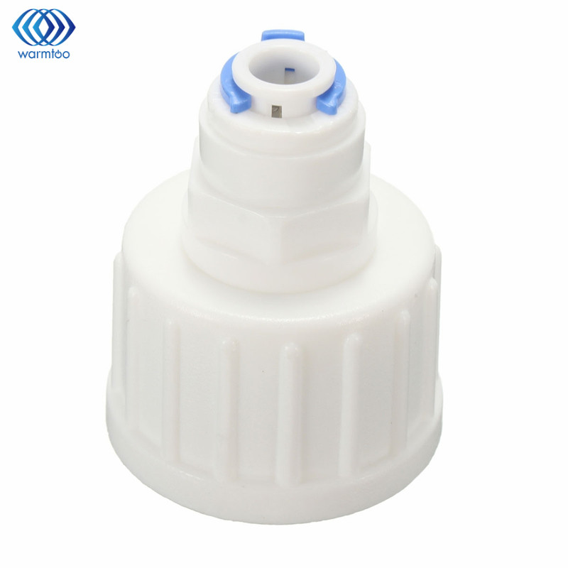 Kitchen Water Filter Tap Connector Adaptor Push Fit 3/4 Inch BSP To 1/4 Inch Reverse Osmosis RO White Watering Fitting Pipe water filter tap connector adaptor push fit 3 4 inch bsp to 1 4 inch reverse osmosis ro white watering fitting pipe