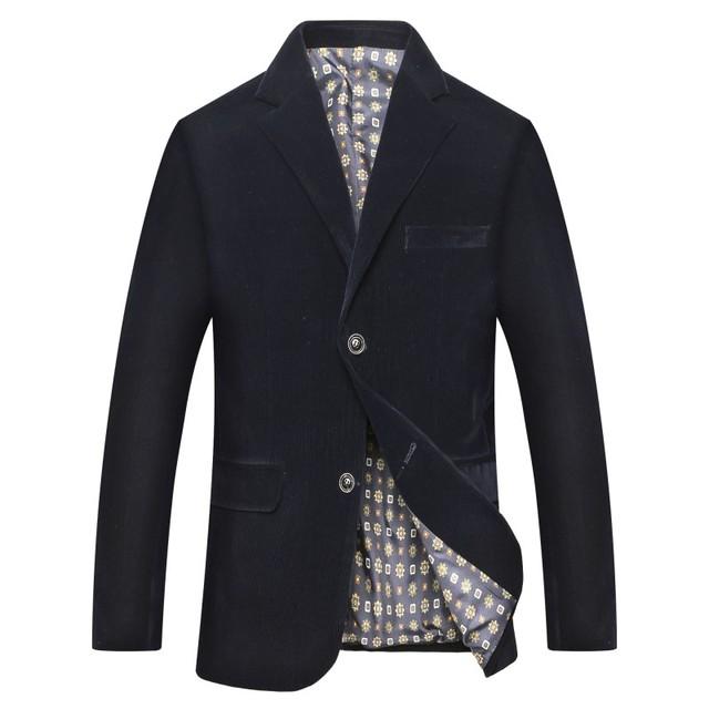 ICPANS Blazers Casual Corduroy Single Breasted Business Office Men Suits Blazer Spring Autumn Mens Blazers Size XXXL 2018 New
