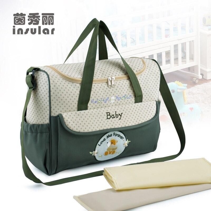 Insular Mode Mamabeutel Für Baby Windelbeutel 8 Farben Multifunktions Reise Handtasche Mutterschaft Schulter Windel Taschen
