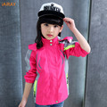 iAiRAY brand 6 years girls red jacket sportwear kids coat children outerwear girls jackets and coats fashion girl spring jacket