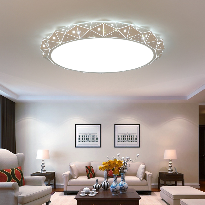 Round Surface mounted Minimalism modern led ceiling lights for living Room study room bedroom White AC85-265V Ceiling Lamp black or white rectangle living room bedroom modern led ceiling lights white color square rings study room ceiling lamp fixtures
