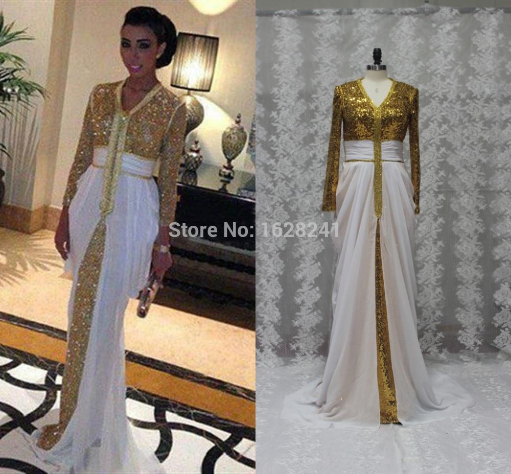 robe de soiree arabe manche longue