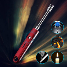 New USB Charging Lighter Metal Electronic Windproof Arc Pulse Elbow Kitchen Igniter Gun Rechargeable Auto Power Off
