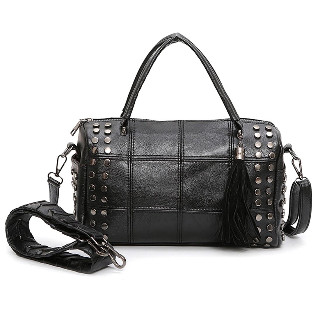 Заклепки Ленточки сумка спортивная Искусственная кожа Сумка Для женщин спортивная сумка для фитнеса один сумка