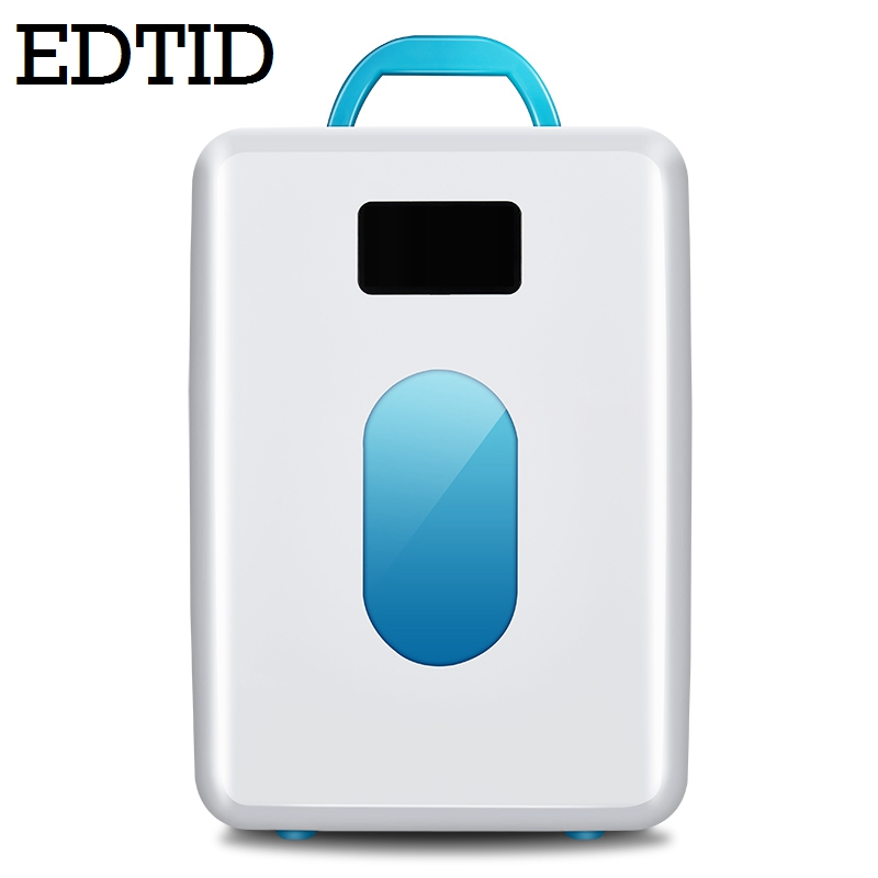 EDTID MINI Car Fridge Portable Auto household Refrigerator Travel Cooler iceBox electric food Freezer Warmer Office 10L 12V 220V цена и фото