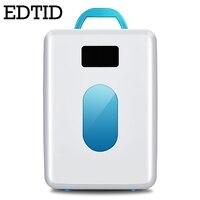 EDTID MINI Car Fridge Portable Auto household Refrigerator Travel Cooler iceBox electric food Freezer Warmer Office 10L 12V 220V