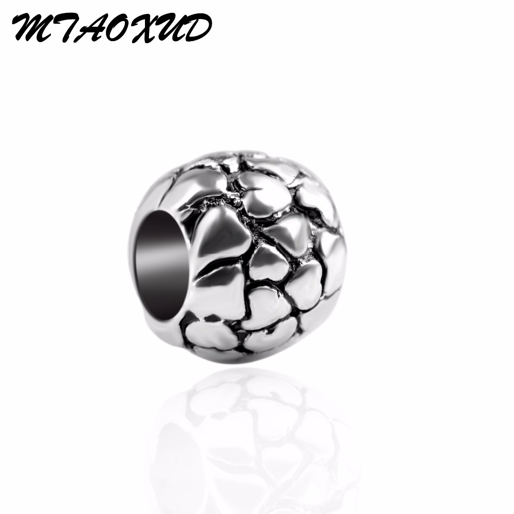 European alloy large hole charm beads round heart mental beads jewelry for bracelet European style beads