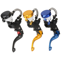 Universal Adjustable Motorcycle 7 8 Clutch Brake Levers Master Cylinder Reservoir Motorbike Brakes For Yamaha Suzuki