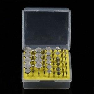 Image 5 - 50Pcs Dremel Zubehör Diamant Schleifen Köpfe Schleifen Nadeln Beschichtet Schleifen Stange 3mm Grate Bur Bit Set für Dremel dreh Werkzeug