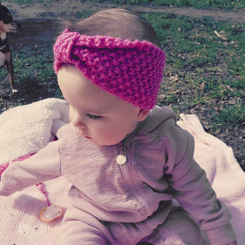 Knut Headband Bebe Girl Winter Hooket Nyfött Head Wrap Warmer Stickat Bow Hairband Hair Band Hair Bow Tillbehör 10 färger